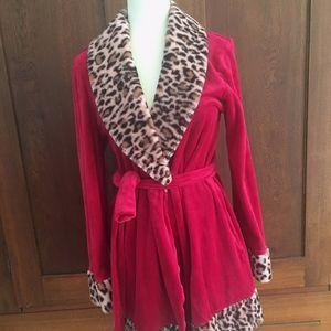 Robe Betsey Johnson Pink & Leopard Print Medium